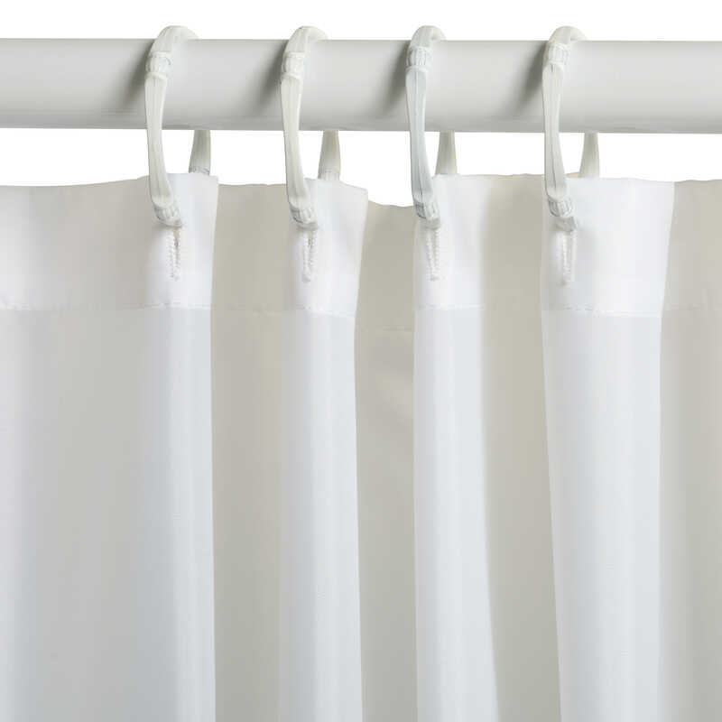 Zenna Home  72 in. H x 70 in. W White  Solid  Shower Curtain Liner