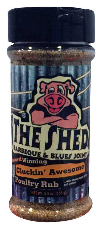 The Shed Cluckin' Awesome Poultry  Poultry Seasoning  BBQ Rub  5.5 oz.