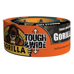 Gorilla  2.88 in. W x 30 yd. L Black  Duct Tape