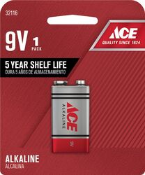 Ace  9-Volt  Alkaline  Batteries  1 pk Carded