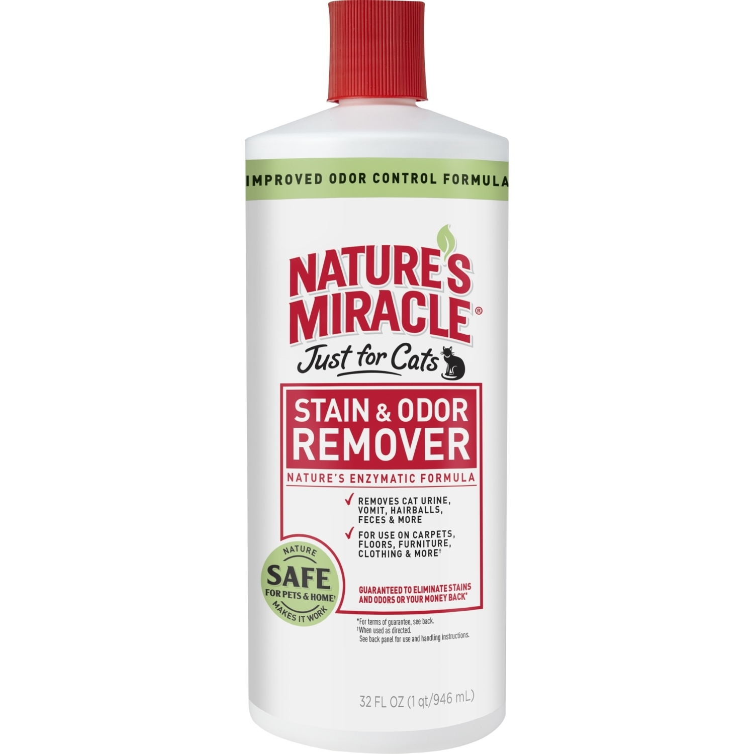 Nature's Miracle  Just for Cats  Stain and Odor Remover  32 ounce  Liquid  No Scent