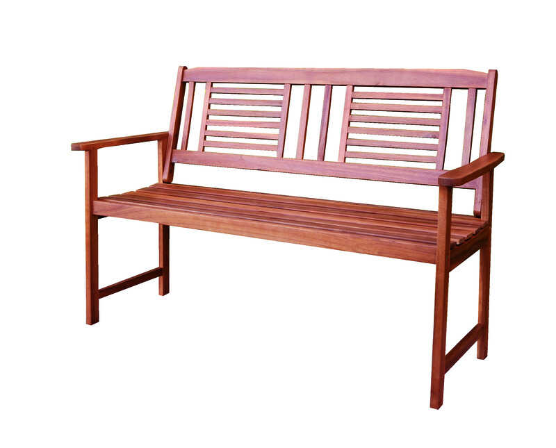 Living Accents  Garden Bench  24.25 in. L x 35.8 in. H x 51.5 in. D Wood
