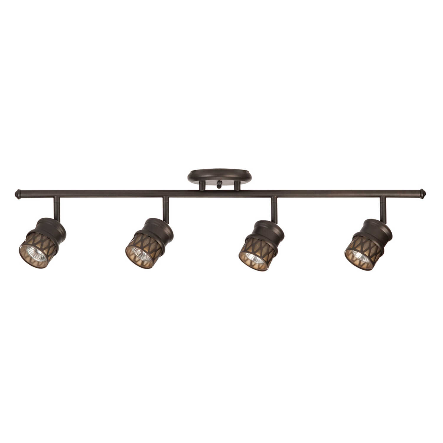 Globe  Oil Rubbed Bronze  Black  4 lights Halogen  Track Light Kit