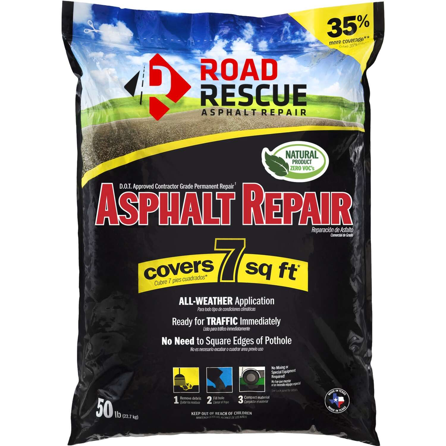 Road Rescue Black Asphalt Repair 50 lb.
