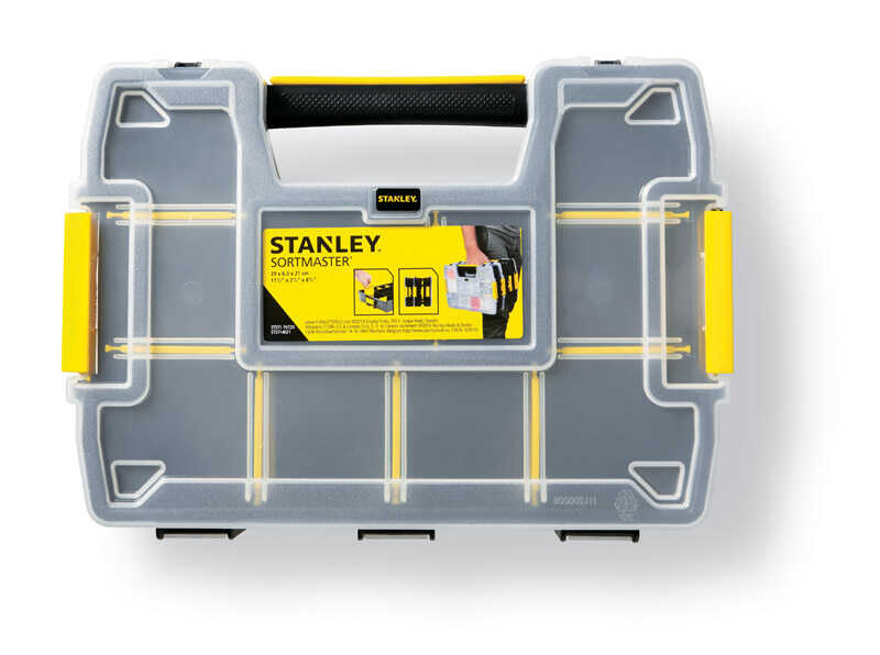 Stanley  Sort Master  13.3 in. W x 3 in. H Storage Organizer  Plastic  8 compartments Yellow