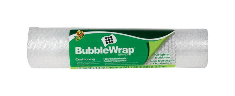 Duck Brand  16 in. W x 9 ft. L Bubble Wrap
