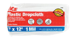 ACE  9 ft. W x 12 ft. L x 1 mil  Plastic  Drop Cloth  1 pk