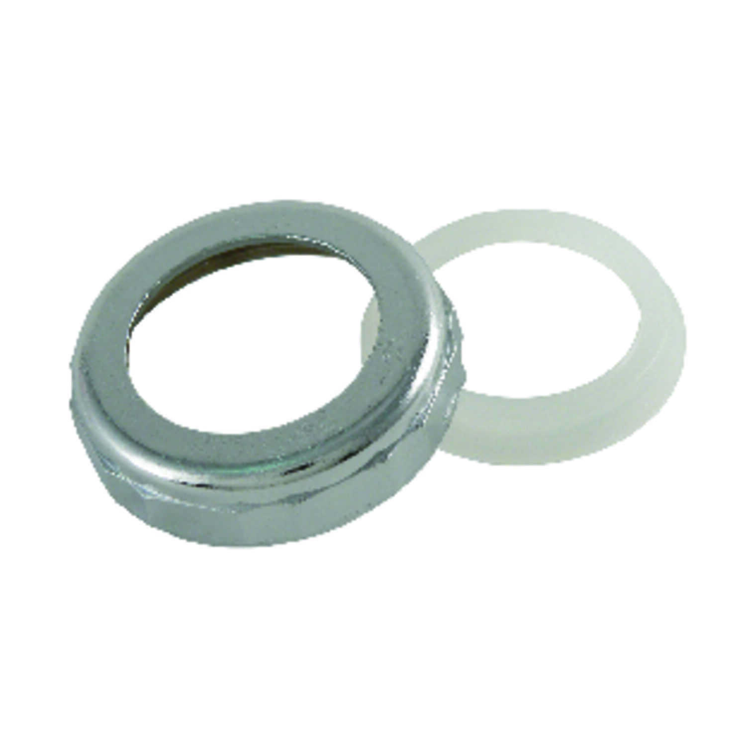 Ace  1-1/2 in. Dia. Metal  Slip Joint Nut and Washer  1 pk