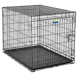 Contour  Large  Steel  Dog Crate  Black  30.6 in. H x 30 in. W