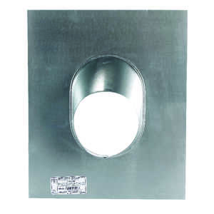 Selkirk  5 in. Dia. Aluminum, Galvanized  Adjustable Roof Flashing