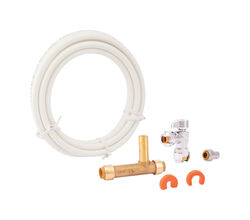 SharkBite 1/4 in. Push Fit x 1/4 in. Dia. Push to Fit 10 ft. Brass Ice Maker Connection Kit