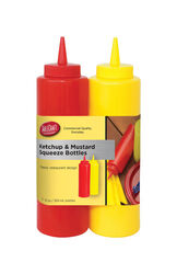 Tablecraft  Nostalgia  Red/Yellow  Polyethylene  Ketchup and Mustard Dispensers