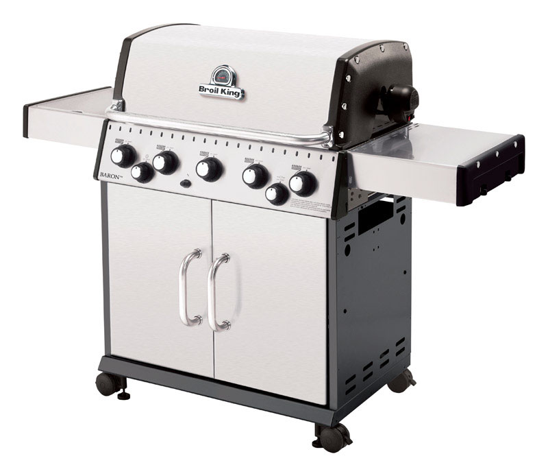 Broil King  Baron S590  5 burners Natural Gas  Stainless Steel  Grill  50000 BTU