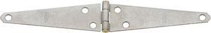 National Hardware  5 in. L Galvanized  Steel  Light Strap Hinge  2 pk