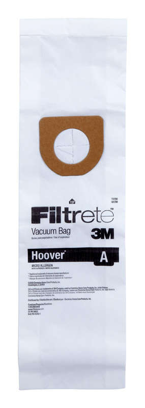 Hoover Concept One Vacuum Bags Micro Allergen Style A Fits Hoover Bagged 3 / Pack Upright