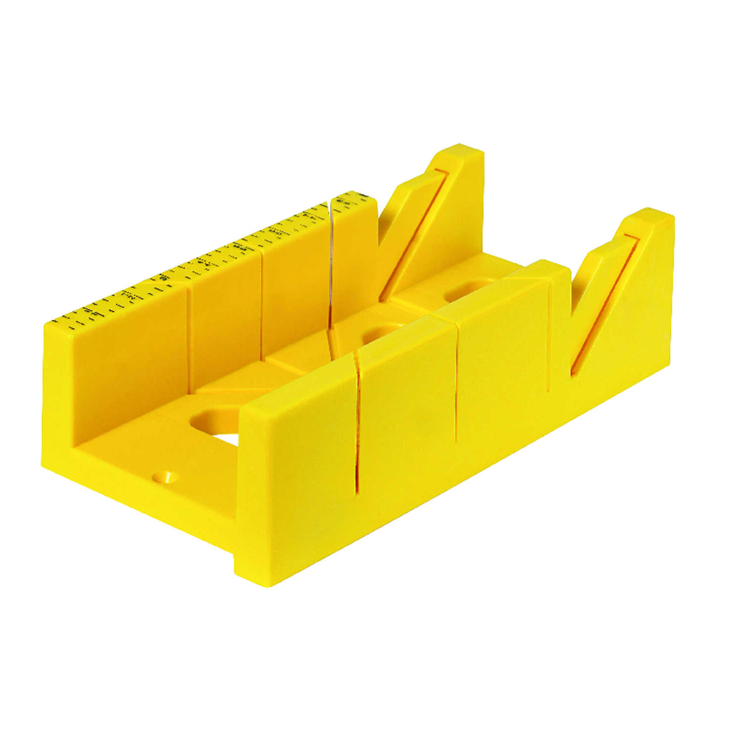 Ace  12 in. L x 4 in. W Plastic  Mitre Box  Yellow  1 pc.