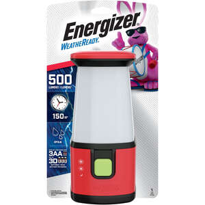 Energizer  Weatheready  500 lumens Red  Emergency Lantern