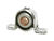 Dial  2-9/32 in. H x 4 in. W Steel  Black  Ball Bearing and Cushion