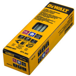 DeWalt  Assorted in. L Bright  Steel  Finish Staples  18 Ga. 900 pk