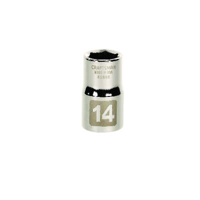 Craftsman 14 mm x 1/2 in. drive Metric 6 Point Standard Socket 1 pc.