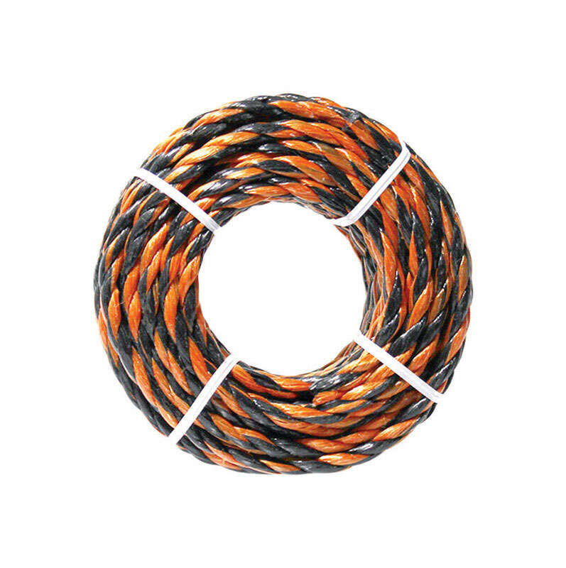 Ace  3/8 in. Dia. x 50 ft. L Black/Orange  Twisted  Poly  Truck Rope