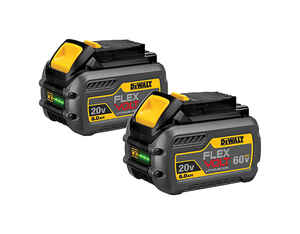 DeWalt  FLEXVOLT  60 volt 6 amps Lithium-Ion  Battery Combo Pack  2 pc.