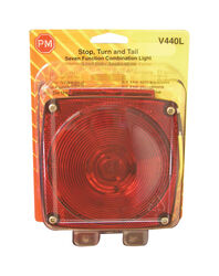 Peterson  Red  Square  License/Stop/Tail/Turn  Stop and Tail Light with License Light