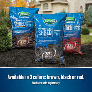 Scotts  Nature Scapes Triple Shred  Red  Extra Fine  Color-Enhanced Mulch  1.5 cu. ft. 9 sq. ft.