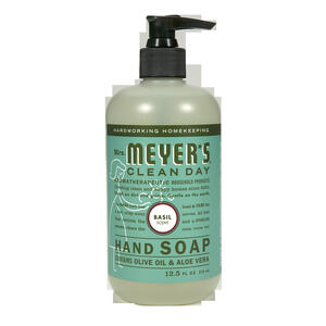 Mrs. Meyer's  Clean Day  Organic Basil Scent Liquid Hand Soap  12.5 oz.