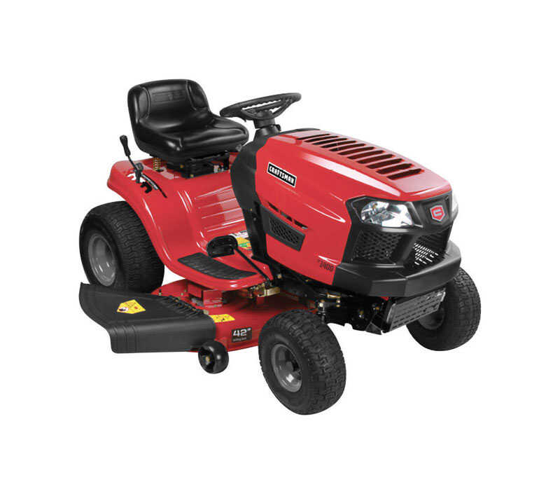 Craftsman  42 in. W Riding  420 cc Mulching Capability Lawn Tractor
