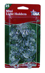 Adams  Mini Suction Cup Hooks  Light Holders  Clear  Plastic  25 pk