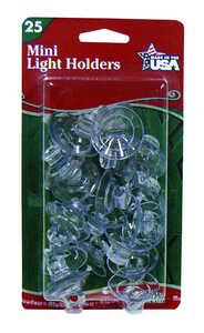 Adams  Mini Suction Cup Hooks  Light Holders  20 pk Clear  Plastic