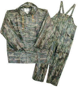 Boss  Camouflage  PVC-Coated Polyester  Rain Suit  XL