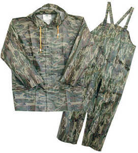 Boss  Camouflage  PVC-Coated Polyester  Rain Suit