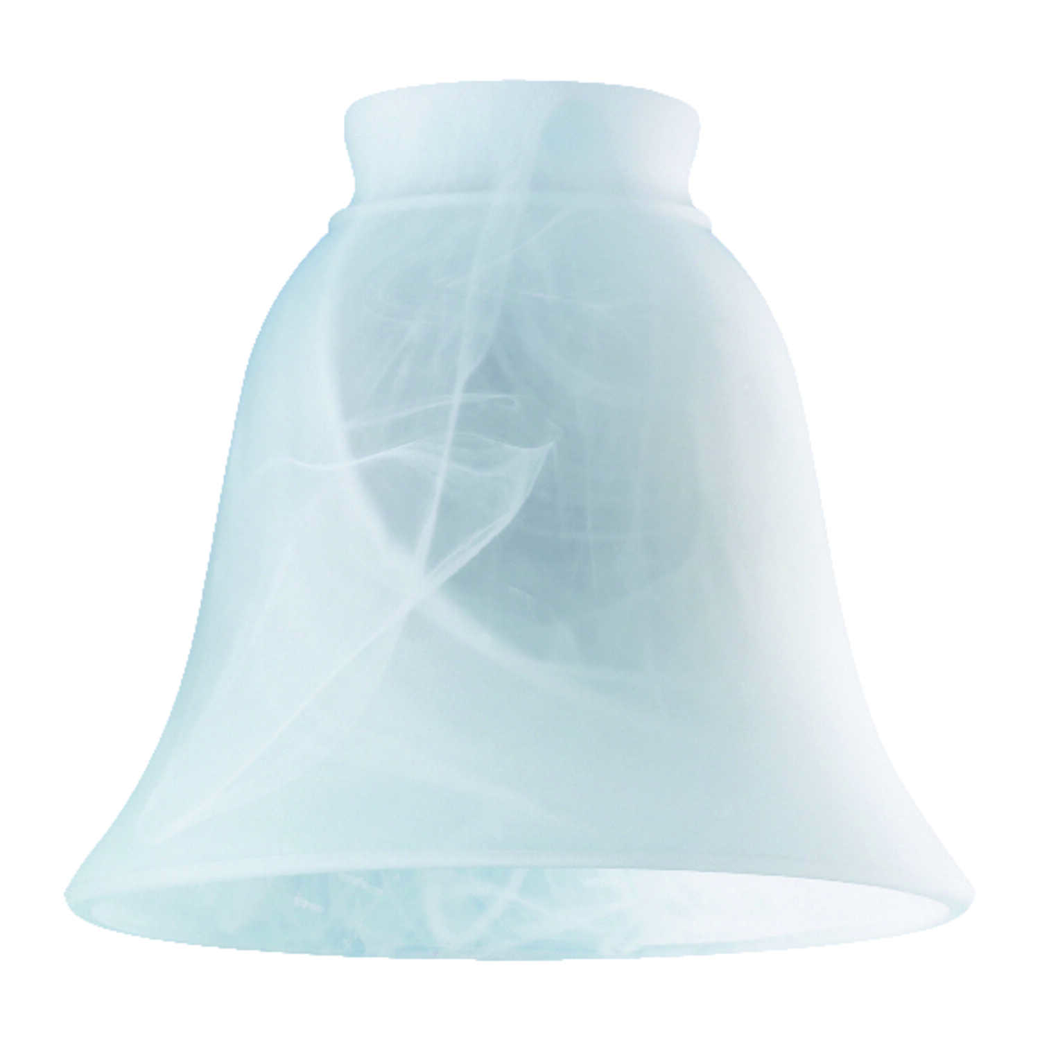 Westinghouse  Bell  White  Glass  Lamp Shade  1 pk