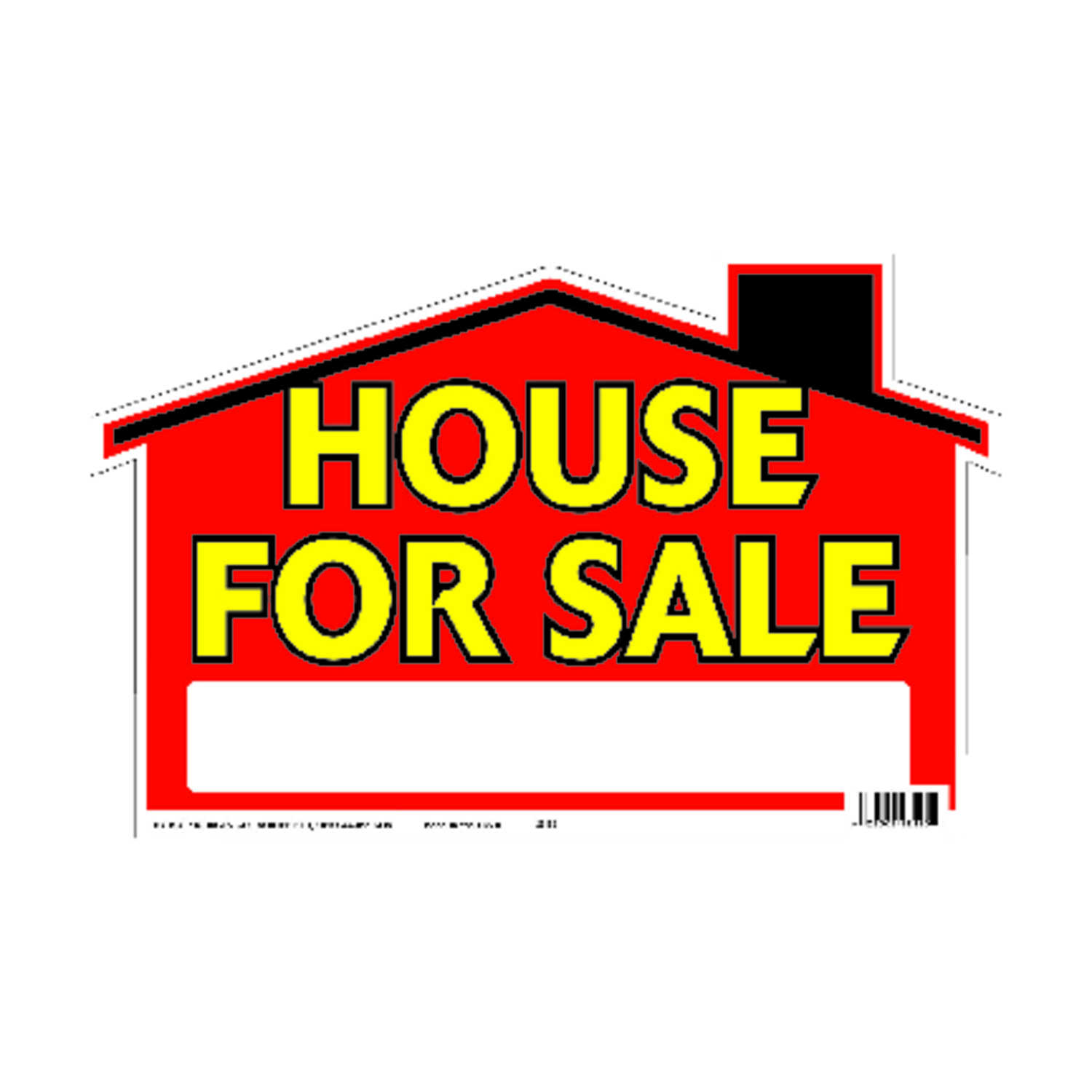 Hy-Ko  English  House for Sale  Sign  Polyethylene  9 in. H x 12 in. W