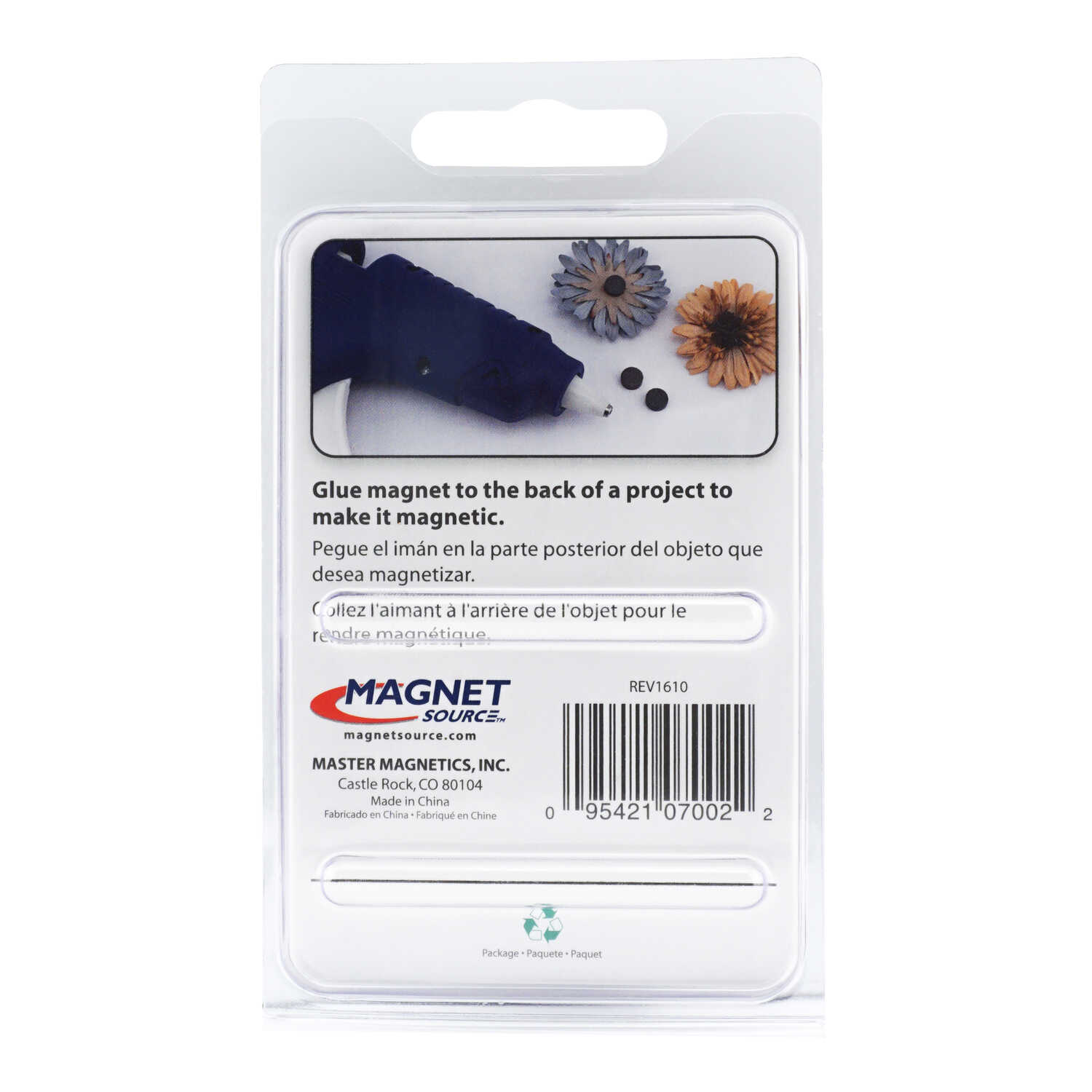 Master Magnetics  .187 in. Ceramic  Disc Magnets  0.5 lb. pull 3.5 MGOe Black  10 pc.