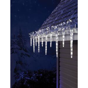 Celebrations  Euro  Micro cluster with icicle-style reflectors  LED  Light Set  Cool White  9 ft. 24