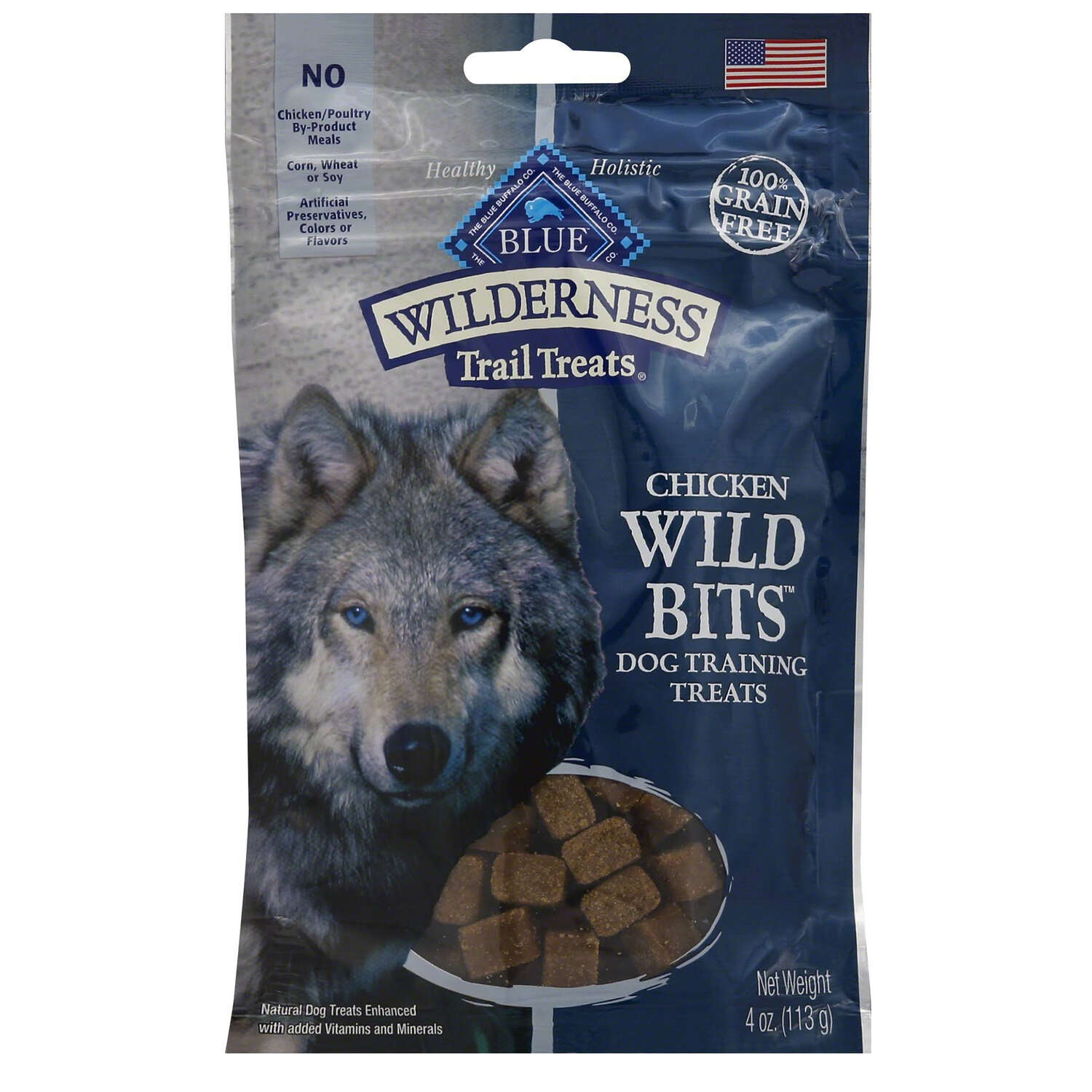 Blue Buffalo  Blue Wilderness  Chicken  Grain Free Treats  For Dog 4 oz. 1 pk