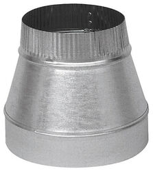 Imperial  7 in. Dia. x 6 in. Dia. Galvanized Steel  Furnace Pipe Reducer