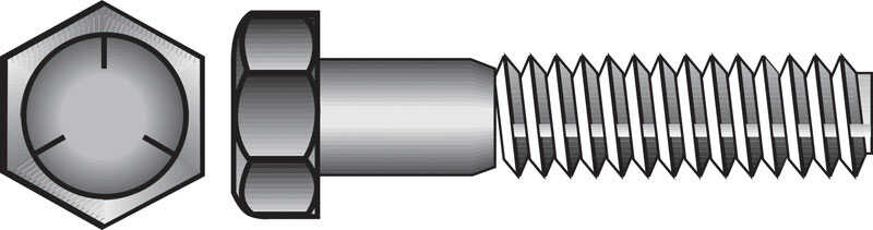 Hillman  7/16 in. Dia. x 1-1/2 in. L Heat Treated Zinc  Steel  Hex Head Cap Screw  50 pk