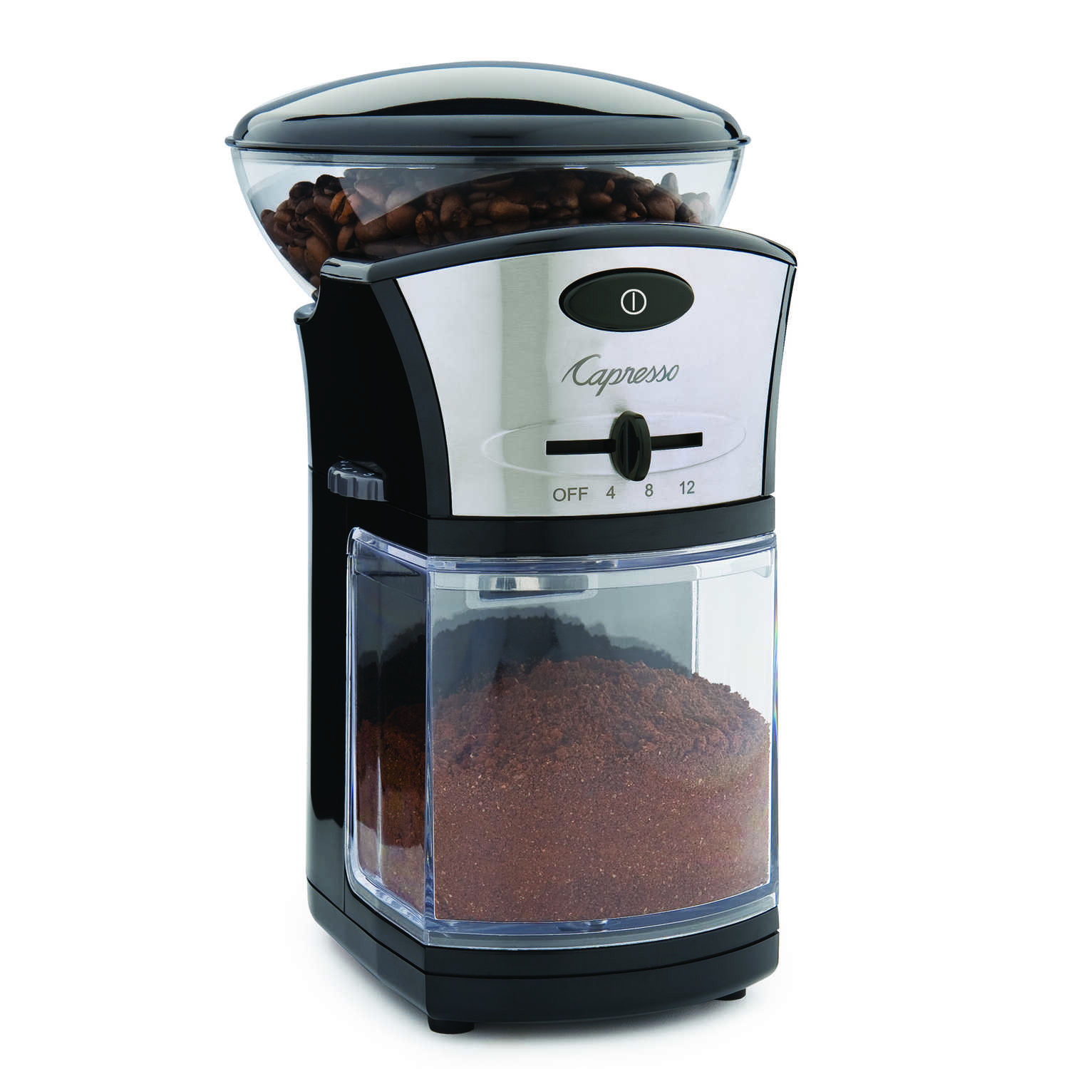 Capresso  Black  Plastic/Steel  1  Coffee Grinder