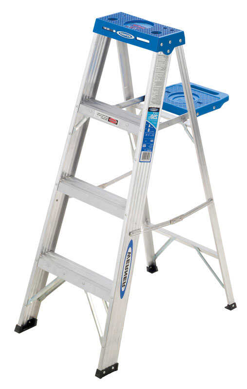 Werner  4 ft. H x 18.5 in. W Aluminum  Step Ladder  Type I  250 lb. capacity
