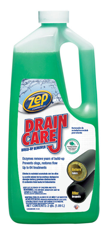 zep drain cleaner. Zep Drain Care Liquid Build-Up Remover 64 Cleaner