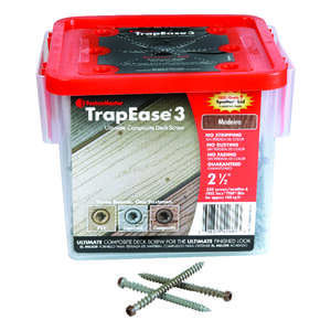 FastenMaster  TrapEase 3  No. 10   x 2-1/2 in. L Torx TTAP  Flat  Epoxy  Carbon Steel  Composite Dec
