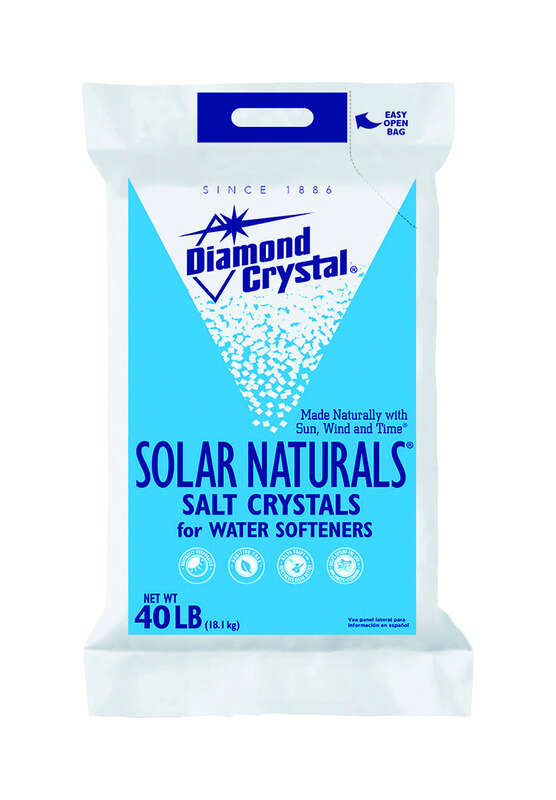 Diamond Crystal  Solar Naturals  Water Softener Salt  Crystal  40 lb.