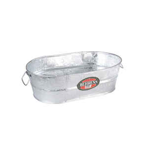 Behrens  4 gal. Steel  Tub  Oval