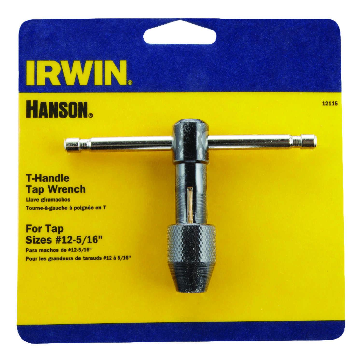 Irwin  Hanson  High Carbon Steel  T-Handle Tap Wrench  #12 to 5/16 in.  1 pc.