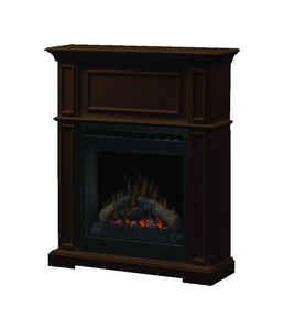 Dimplex  31.8 in. W 400 sq. ft. Brown  Traditional  Electric Fireplace