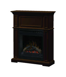 Dimplex  400 sq. ft. Brown  31.8 in. W Electric Fireplace  Traditional
